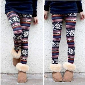 Snowflake tribal leggings pants